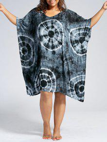 باتوينغ الأكمام بالاضافة الى حجم اللباس التستر - أسود