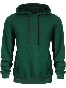 البلوز الكنغر جيب هوديي - أخضر L