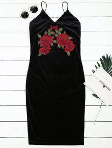 Robe Brodée à La Broderie - Noir S