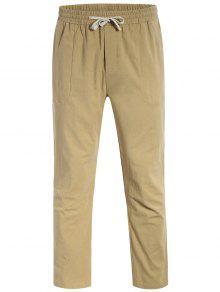 عارضة جيوب الرباط سروال - ضوء كاكي 4xl