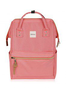 Casual Canvas Top Handle Backpack - Pink