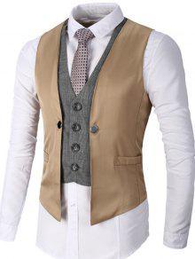 معطف صدرية بأسلوبين بالصدر الواحد - كاكي M