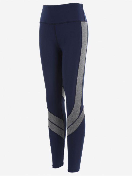 Leggings de yoga à deux tons Active - Bleu Violet XL
