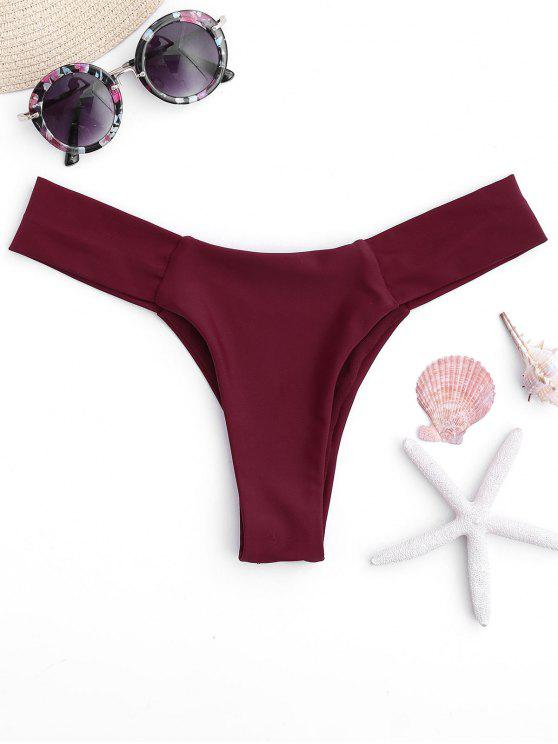 High Cut Thong Swim Bottoms - Bourgogne S