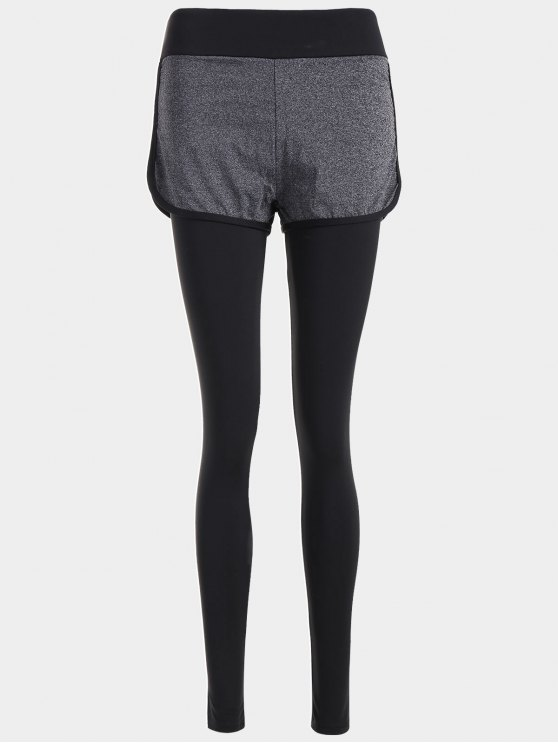 Layers Color Block Running Pants - Cinza M