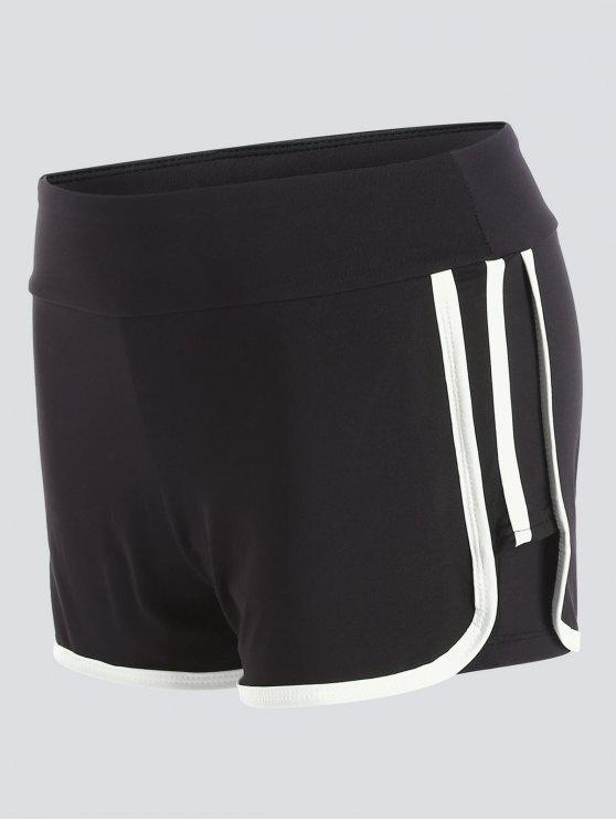 latest Stripe Trim Sports Shorts - WHITE L