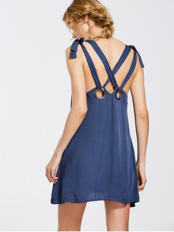 بونوت كريسس الصليب اللباس مصغرة - الأرجواني الأزرق M
