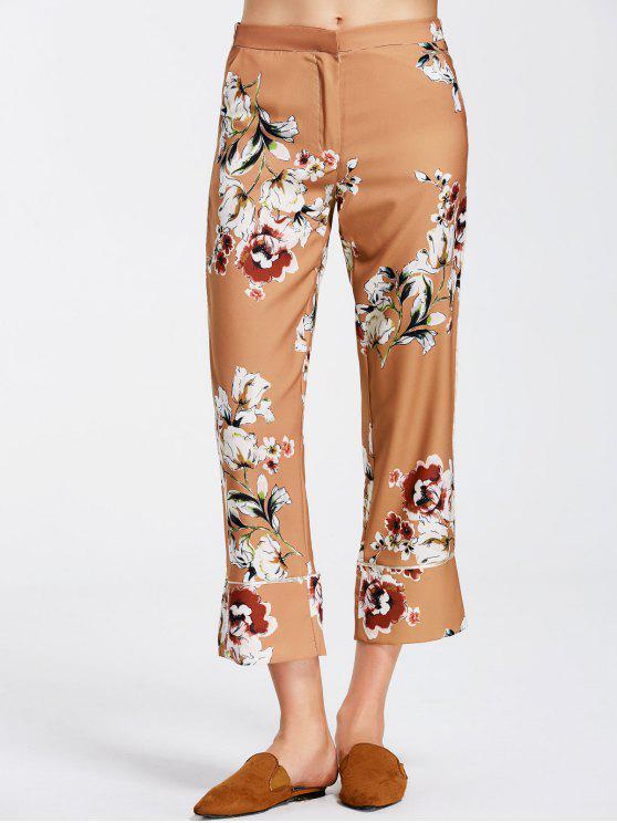 best Floral Boot Cut Ninth Pants - FLORAL S