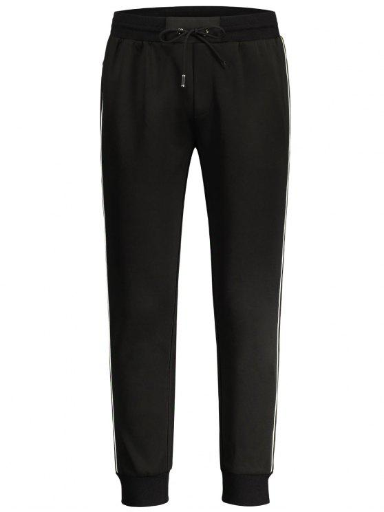 Pantalons de jogger à rayures - Noir XL