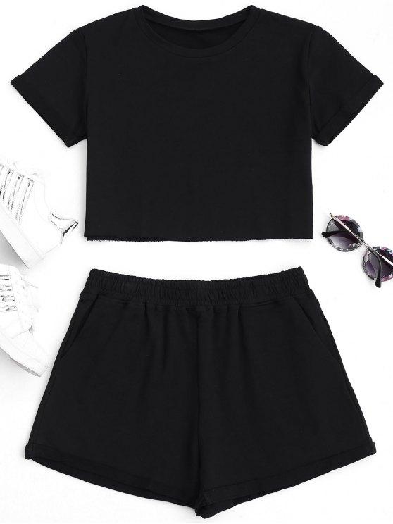 Costume en coton et culotte - Noir M
