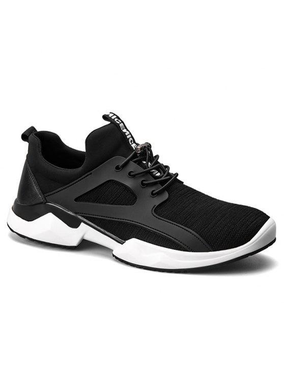 سلسلة تمتد النسيج تنفس أحذية رياضية - أسود 40