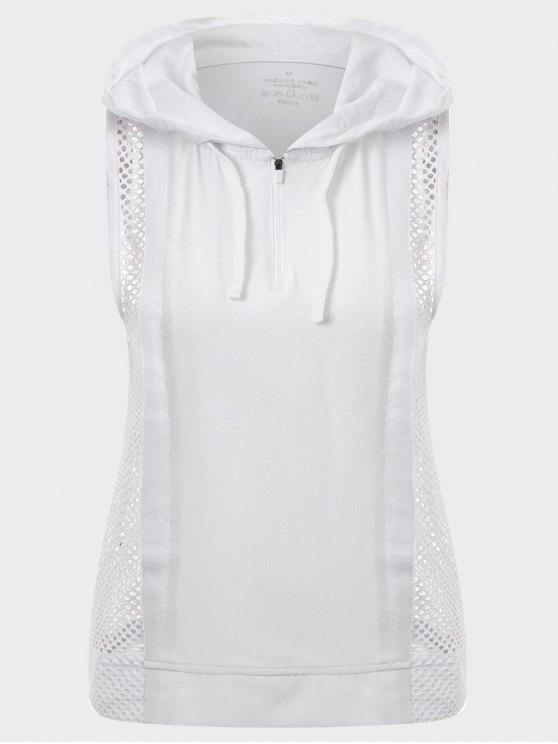 Pantalón de cremallera con cremallera y cremallera - Blanco L