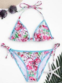 Floral High Cut String Bikini - Floral M