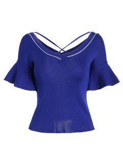 Camiseta Con Punto De Cruz Criss - Azul