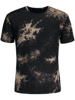 Short Sleeve Tie-Dyed Tee - Black S