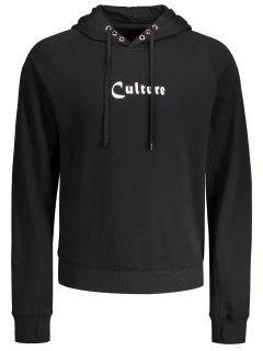 Grommet Culture Graphic Hoodie - Black M