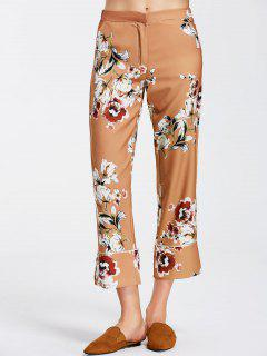 Floral Boot Cut Ninth Pants - Floral S