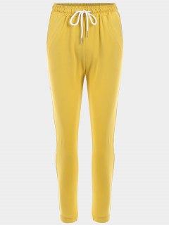 Pantalons Sport à Rayures - #ffff00 M