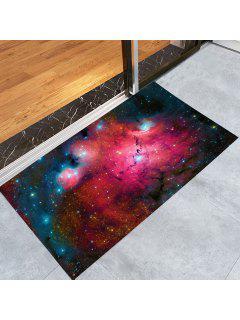 Star Night Print Crystal Velvet Fabric Bath Rug - Starry Sky Pattern W24 Inch * L35.5 Inch