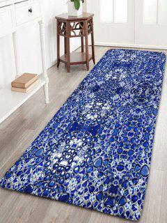 Tapis De Salle De Bain à Rayures Antidérapant En Flanelle - Bleu Saphir Largeur 24 Pouces*longueur 71pouces