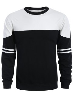 Mens Two Tone Sweatshirt - White And Black Xl