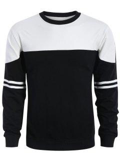 Mens Two Tone Sweatshirt - White And Black M