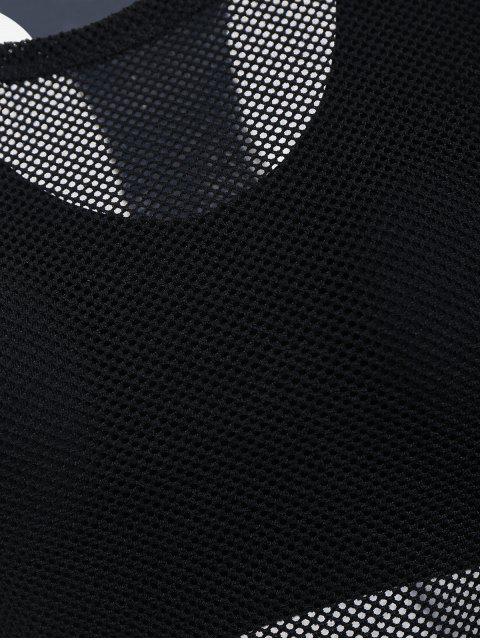 online Mesh Three-piece Sports Suit - BLACK L Mobile