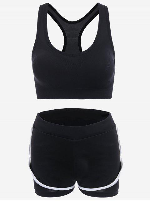 shop Mesh Three-piece Sports Suit - WHITE S Mobile