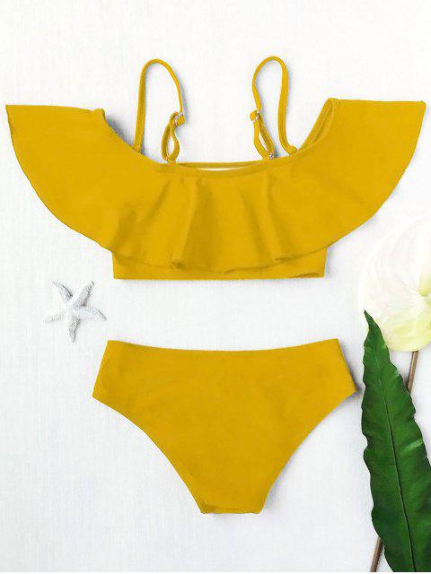 outfit Layered Off The Shoulder Girls Bikini Set - GINGER 4T Mobile