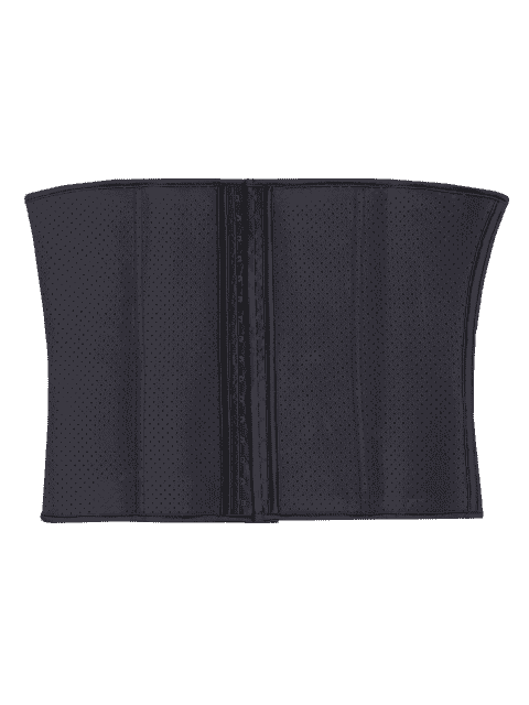 online Cut Out Cami Color Block Corset - BLACK 2XL Mobile