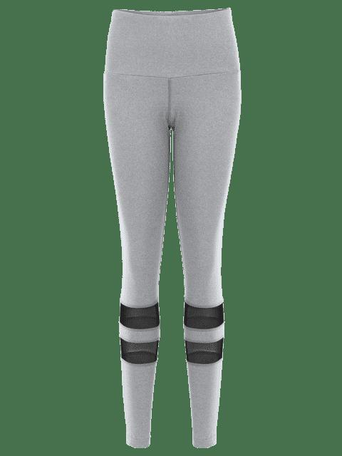 Mesh Leggings Actifs Yoga - Gris S Mobile