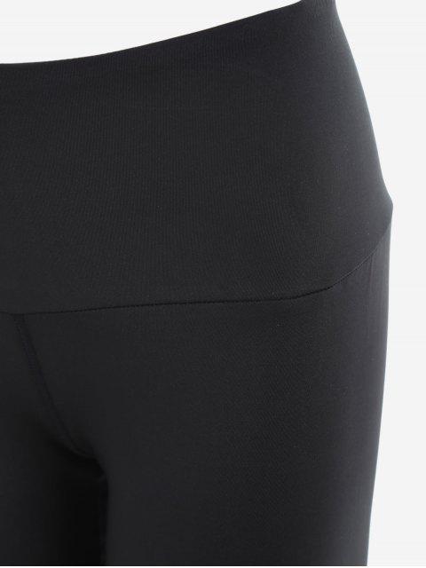women Mesh Active Yoga Leggings - BLACK S Mobile