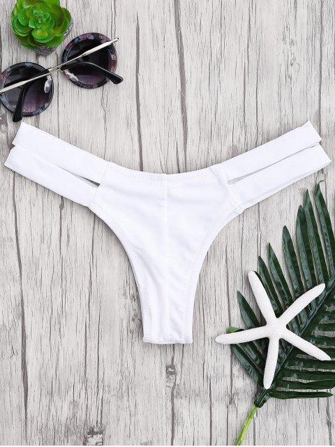 shop Bandage Cut Out Bikini Bottoms - WHITE L Mobile