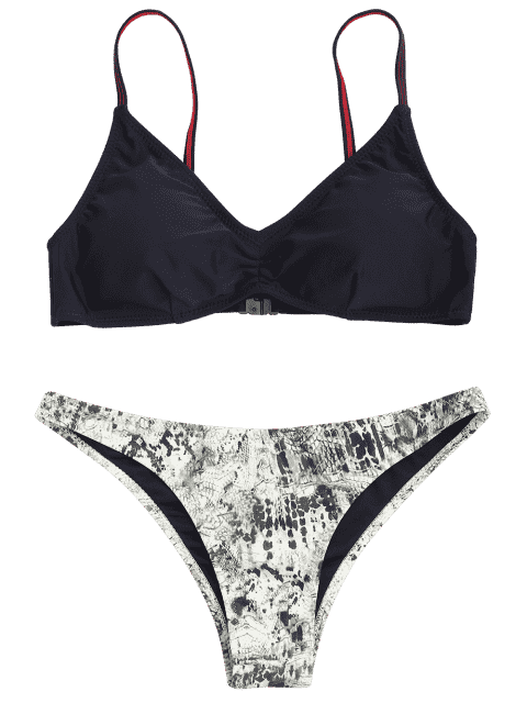 outfit Padded Abstract Bikini - BLACK S Mobile