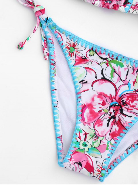 chic Floral High Cut String Bikini - FLORAL L Mobile