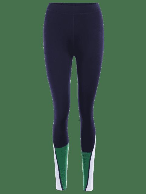 Blousons de sport en blocs de couleurs - Bleu Violet S Mobile
