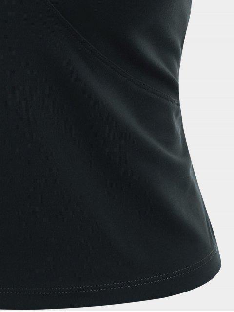 online Mesh Panel Backless Sports Tank Top - BLACK L Mobile