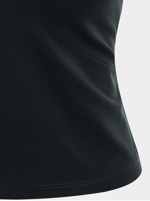 hot Mesh Panel Backless Sports Tank Top - BLACK M Mobile