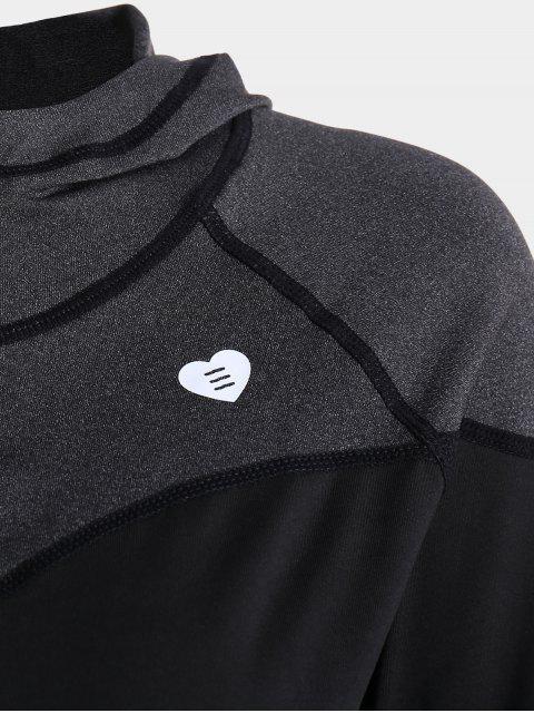 Veste de sport à capuche Zip Up - Noir XL Mobile