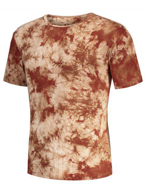 T-shirt manches courtes pour hommes - Café Clair M Mobile