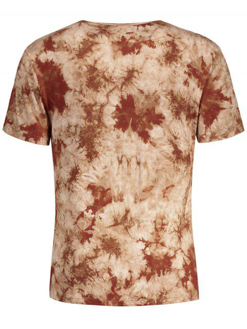 T-shirt manches courtes pour hommes - Café Clair S Mobile