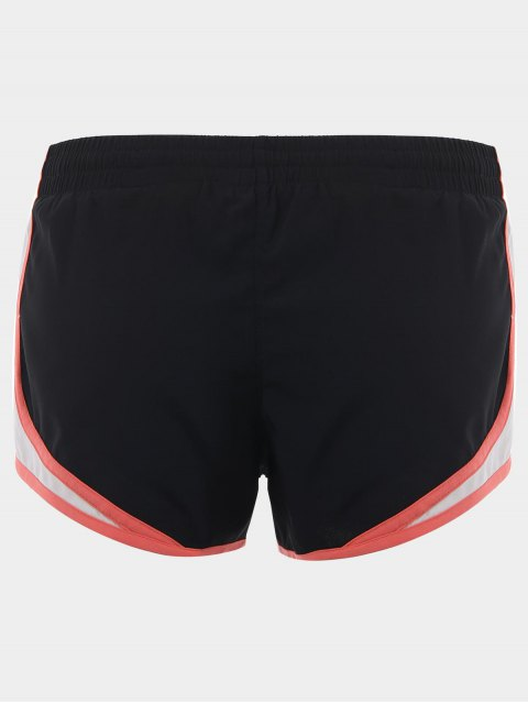 Contraste Trim Drawstring Sports Shorts - Noir S Mobile