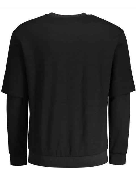 hot Single Stripe Insect Print Sweatshirt - BLACK XL Mobile