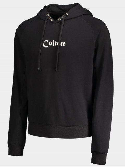 affordable Grommet Culture Graphic Hoodie - BLACK XL Mobile