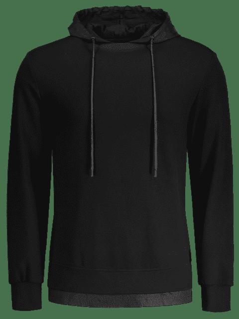 Sweat à capuche à dos imprimé à lettre - Noir XL Mobile