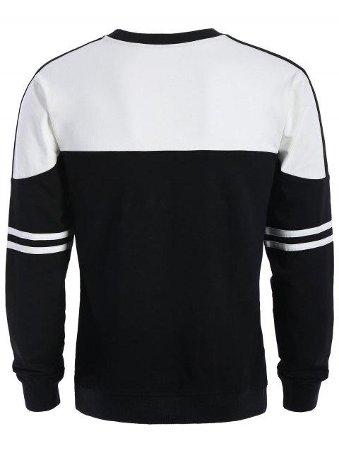buy Mens Two Tone Sweatshirt - WHITE AND BLACK XL Mobile