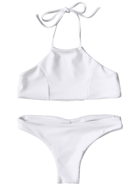 womens Halter Cute Kid Bikini - WHITE 8T Mobile