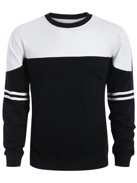 Mens Two Tone Sweatshirt - Weiß & Schwarz XL  Mobile