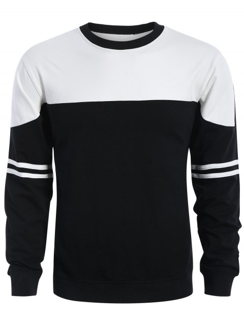 women Mens Two Tone Sweatshirt - WHITE AND BLACK L Mobile