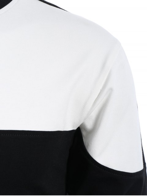 online Mens Two Tone Sweatshirt - WHITE AND BLACK S Mobile